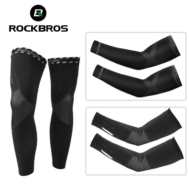 ROCKBROS, 4 сезона, защита от солнца для рук с защитой от ультрафиолета, рукава, ледяной шелк, дышащие комплекты для ног, для мужчин и женщин, для с...