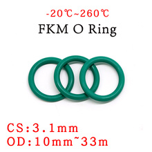 Sealing-Gasket O-Ring Rubber Fluorine High-Temperature-Resistance Green OD 10pcs 10--33mm