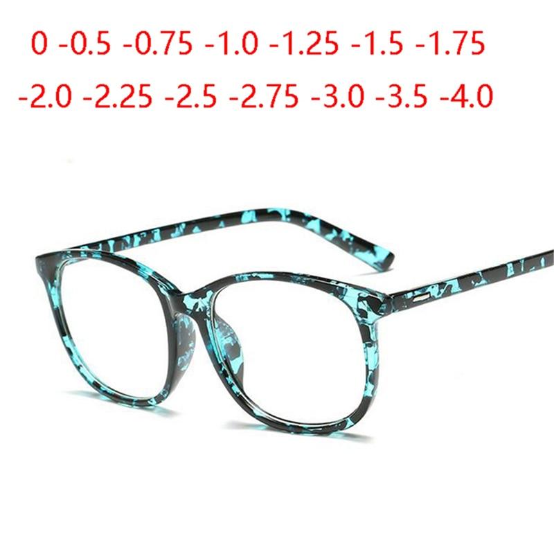 Асферические линзы унисекс, очки унисекс в ретро стиле из поликарбоната с полной оправой, круглые очки для близоруких 0,5 0,75 1,0 до 4, 1,56 Женские очки для чтения      АлиЭкспресс