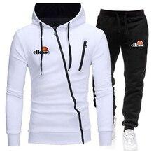 Hoodie Sweatshirt Tracksuit Running-Suit Two-Piece-Set Pullover Fitness Winter Autumn