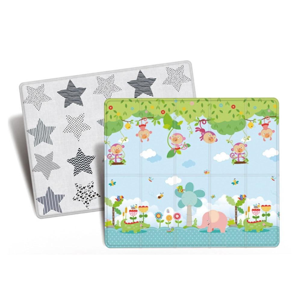 Tapis de jeu anti-dérapant pour bébé tapis de jeu pliant pour enfants tapis de jeu en mousse souple tapis rampant pour matelas de jeu tapis d'activité pour bébé - 5
