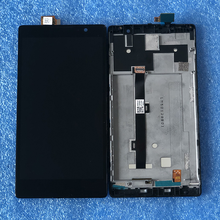 """Orijinal Axisinternational 5.5 """"Lenovo K80 K80M P90 çerçeve ile LCD ekran + dokunmatik ekran Digitizer için Lenovo K80M LCD çerçeve"""