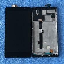 "Oryginalny Axisinternational 5.5 ""dla Lenovo K80 K80M P90 ekran LCD z ramką + dotykowy digitizer dla Lenovo K80M rama LCD"