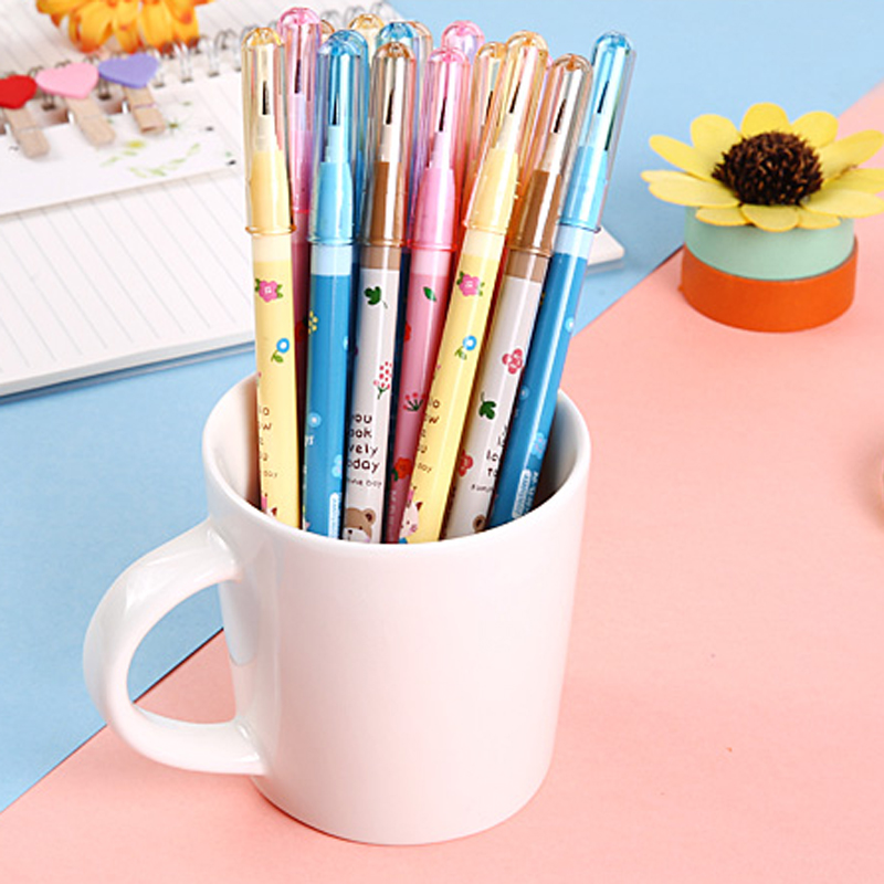 4PCS/Set Non-sharpening Pencil Cute Stationery Cartoon Pencil Plastic Pencil Student School Office Stationery