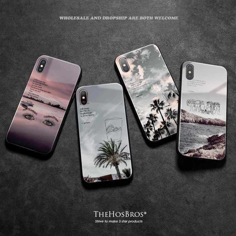 Rupi kaur poèmes citations Paysage Verre Doux Silicone housse de téléphone Coque Pour iPhone 6 6s 7 8 Plus X XR XS 11 Pro MAX