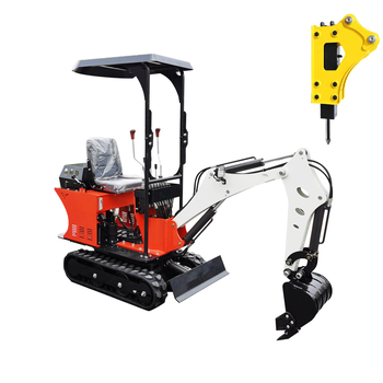 Hydraulic 0.8T Mini Excavator Small Digger with Gasoline/Diesel/Engine and CE excavator accessories kobelco sk60 mb220900 hand pump diesel filter seat diesel block digger