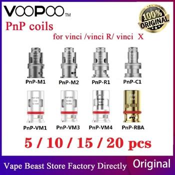 Oryginalny 5 sztuk-20 sztuk VOOPOO PnP głowica cewki Pnp-M2 Pnp-R1 Pnp-C1 PnP-VM1 siatki PnP-R2 siatki PnP RBA dla VOOPOO VINCI R Vinci X zestaw tanie i dobre opinie VOOPOO PnP-VM1 Mesh Coil DS NC 5pcs pack PnP-VM1 0 3ohm