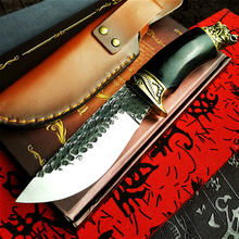 Pegasi hand forged outdoor tactical straight knife bush hunting