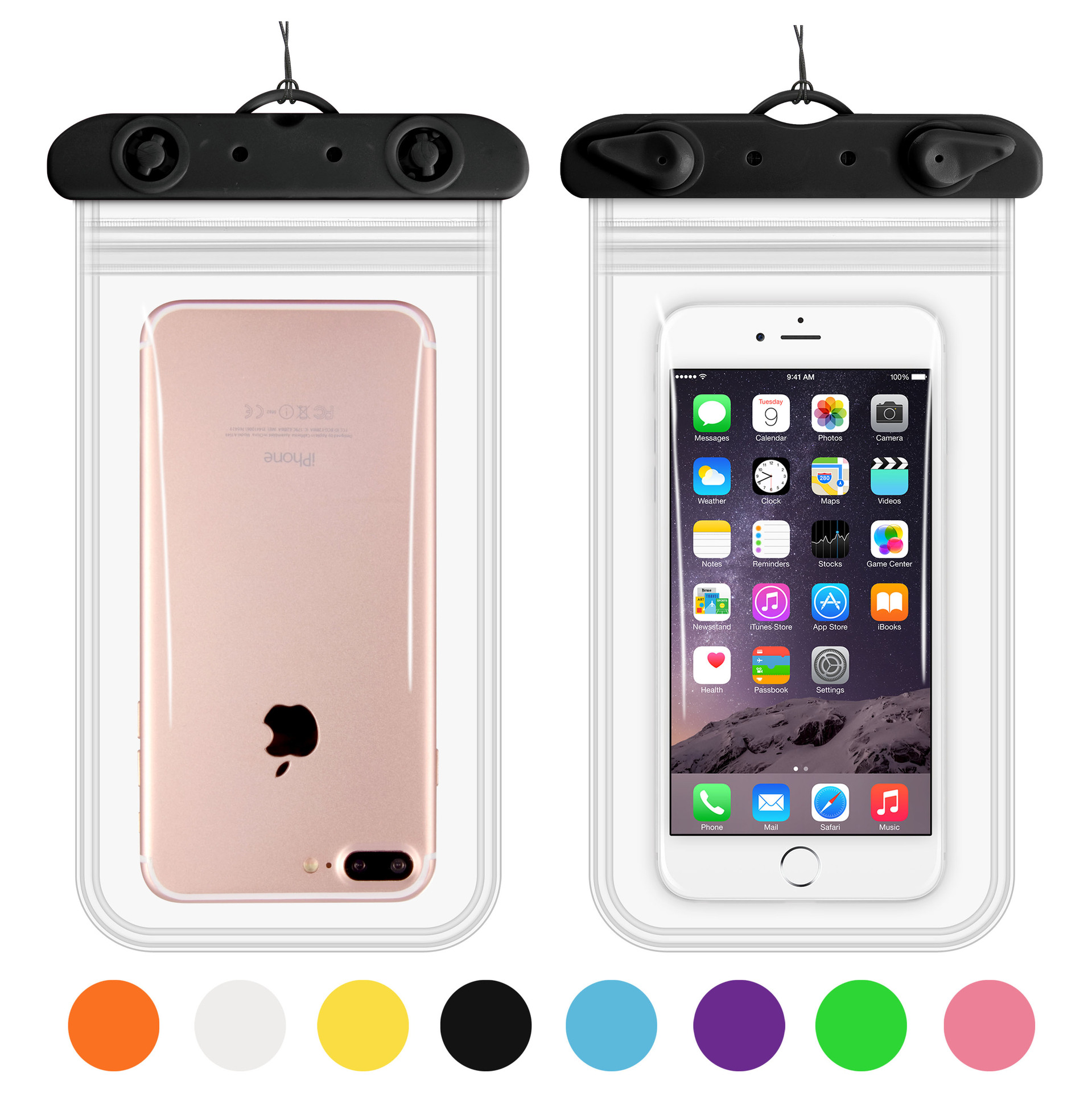 Four Sides Double Layer Waterproof Cellphone Bag Waterproof Mobile Phone Bag Large Size Touch Screen Transparent Smart Swimming