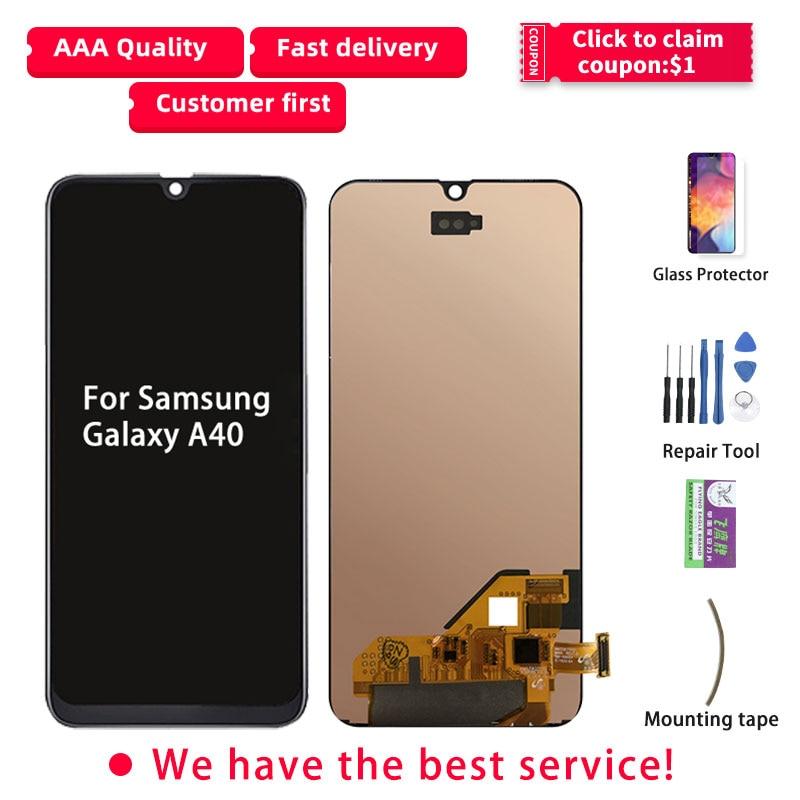 OLED Screen For Samsung Galaxy A40 LCD Display A405F Touch Screen For Samsung A40 Display Replacement Digitizer Ecran