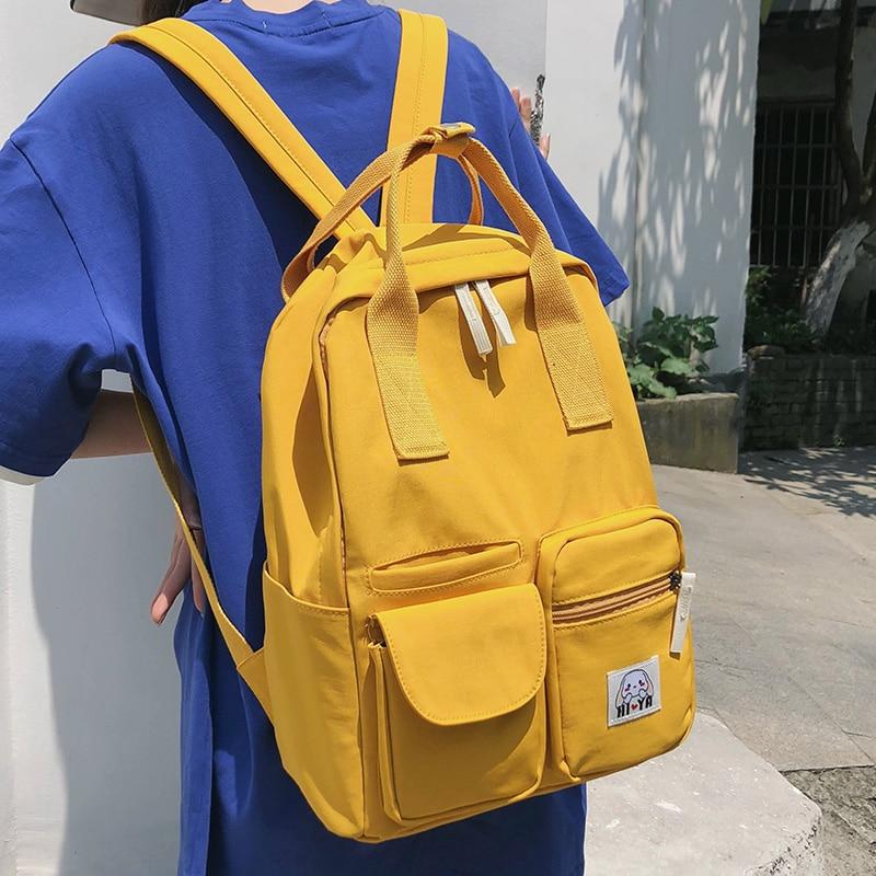 Ladies Nylon Cute Backpacks Waterproof Women School Bags For Teenage Girl Harajuku Backpack Kawaii Female Fashion Bag Luxury New