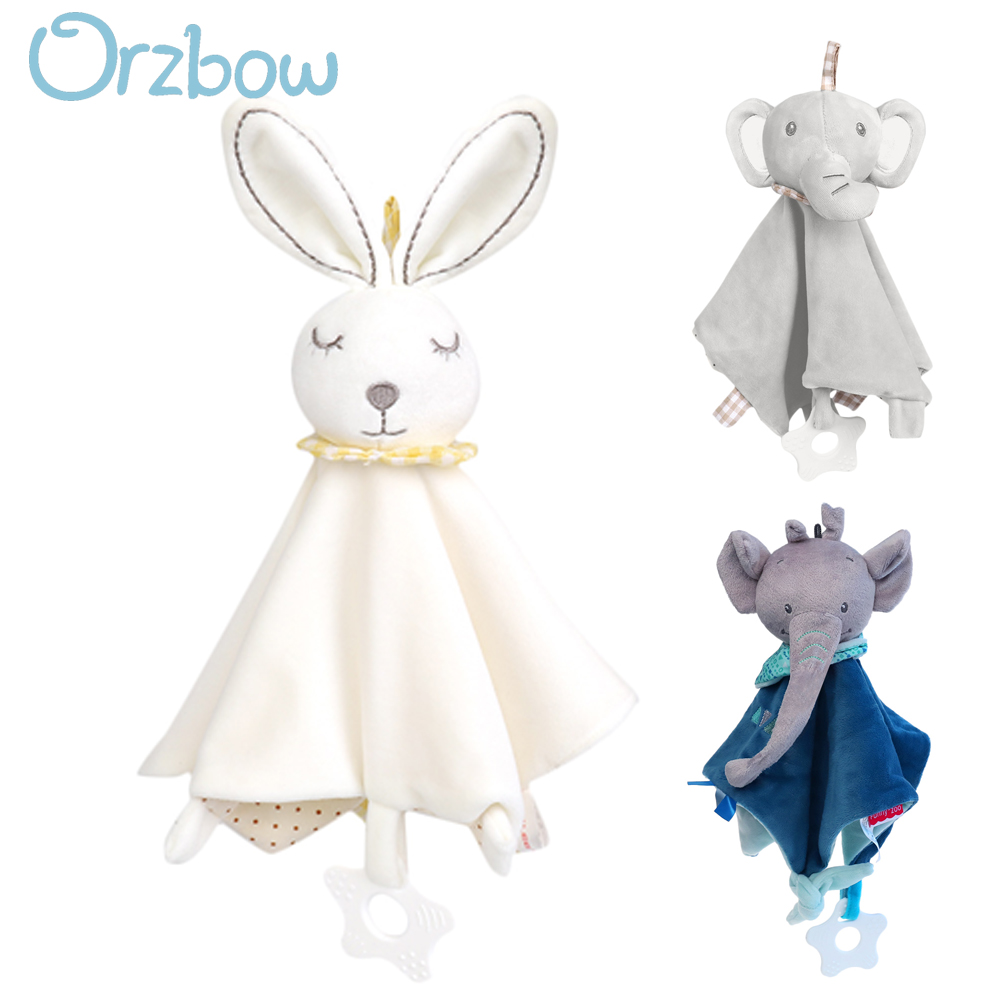Orzbow Baby Infant Cartoon Soothe Appease Towel Newborn Plush Doll Toy Pacify Appeasing Soothing Towel With Baby Teether Toys