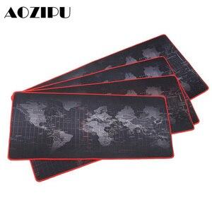 Image 1 - Tapis de souris de Gaming personnalisé, grand format, cartes du monde antidérapant, en caoutchouc naturel, pour bureau CSGO Dota LOL