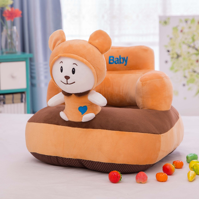 Explosion Style Creative Cartoon Children Sofa Learning Seat Plush Toys Children Small Sofa Tatami Doll Baby Sofa Seat