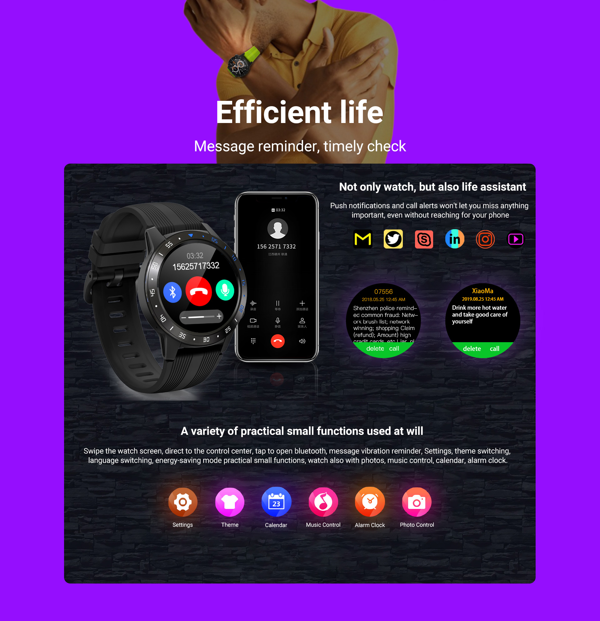 H19d6c8d5f9024aada405822c2aae70d86 GPS Smartwatch Men With SIM Card Fitness Compass Barometer Altitude M5 Mi Smart Watch Men Women 2021 for Android Xiaomi