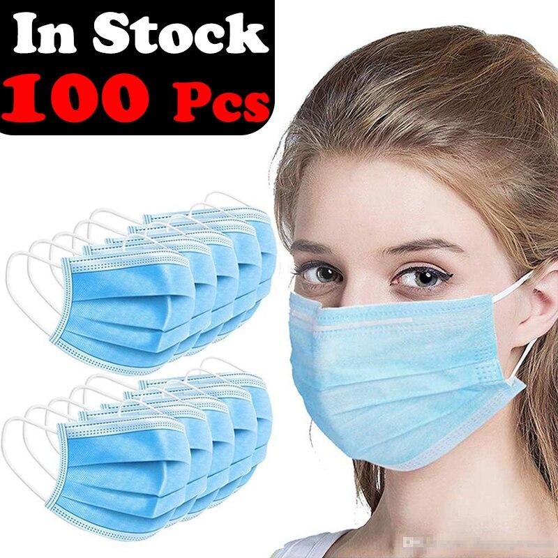 Op Voorraad Beschermende Facemasks Voor Wegwerp Drie-Layer Volledige Gezicht Sheild Plastic Voor Kids & Volwassenen Lokale Zending Uit texas, usa