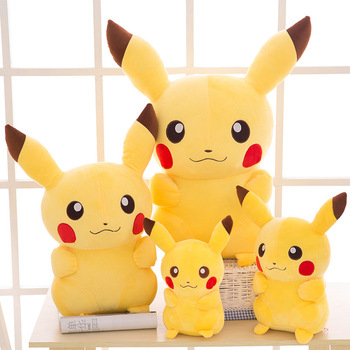 Nowy TAKARA TOMY Pokemon Pikachu pluszowe zabawki wypchane zabawki japonia film Pikachu Anime lalki świąteczne prezenty urodzinowe dla dzieci tanie i dobre opinie Tv movie postaci COTTON 3 lat Genius Lalka pluszowa nano Miękkie i pluszowe Unisex Christmas Event Gift Animals Pokemon Plush Doll Toys