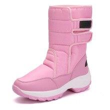 2019 botas de invierno para correr para mujer zapatos acolchados de algodón talla grande 42 botas de nieve calientes impermeables zapatos deportivos de mujer
