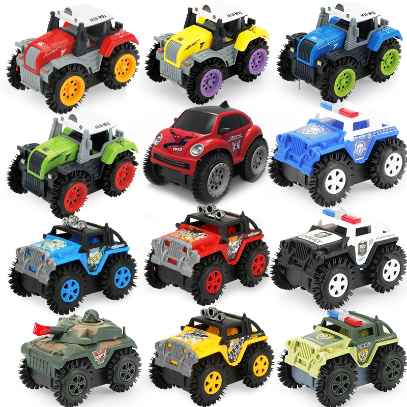 [Rush Specialized] Educational Dumpers CHILDREN'S Cartoon Stunt Car Flipping Toy Car Electric Toy Car