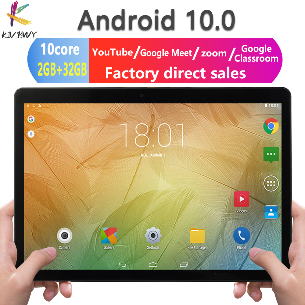 Newest 10.1 inch Tablet Android 10.0 Octa Core Google Play ZOOM 3G 4G LTE  Phone Call Dual SIM Cards WiFi Bluetooth GPS Tablets|Tablets
