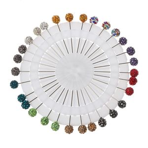 Image 1 - 30 adet Müslüman Başörtüsü Eşarp Emniyet Pimleri Kristaller Topu Broş Düz Kafa Pimleri