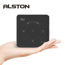 ALSTON C99 Mini proyector DLP Android WiFi Bluetooth 4,0 de vídeo portátil LED proyector de cine en casa soporte Miracast Airplay(China)