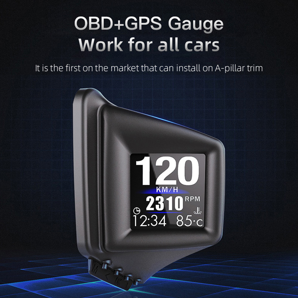 OBD GPS двойная система проекционный дисплей A401 дисплей автомобильный цифровой Hud GPS спидометр ЖК-дисплей сигнализация превышения скорости ав...
