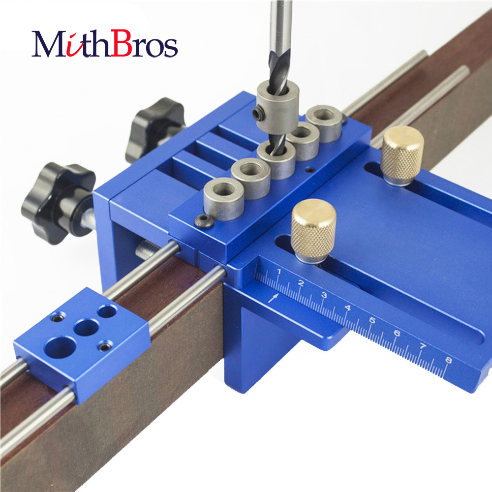 Upgraded Dowelling Jig Set High Precision Woodworking Tool Drill Guide DIY Hole Drilling Locator Hole Jig Puncher Locator