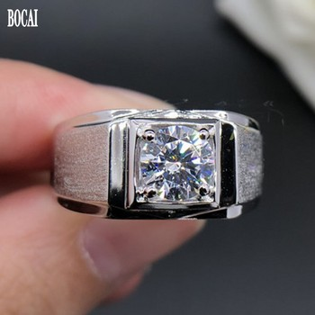 2020 100% real s925 pure silver couple ring high carbon diamond creative new style frosted man diamond ring fashion wedding ring