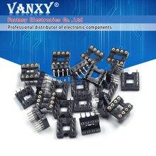 20 шт. DIP 8, круглое отверстие, 8 штырьков, 2,54 мм DIP DIP8, адаптер IC, тип припоя, 8 контактный разъем IC