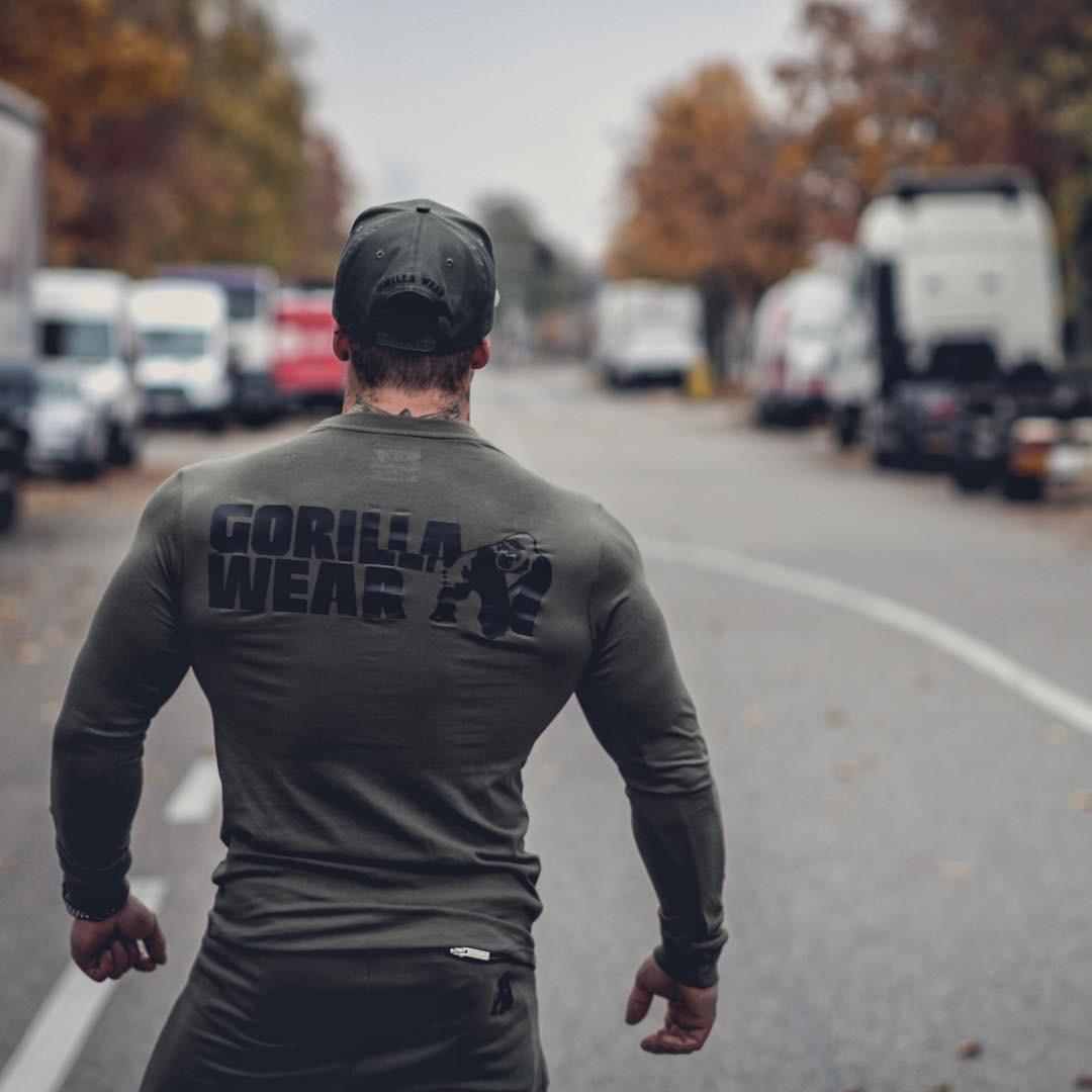 Baru Penjaga Ruam Berkerudung Olahraga Kemeja Pria Lengan Panjang Zipper Berjalan T Shirt Pria Hoody Kompresi Kemeja Gym Tshirt Kebugaran Top