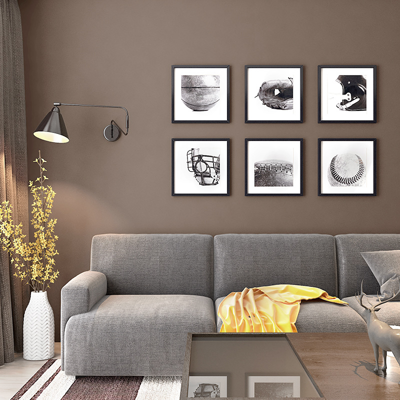 Non-woven Wallpaper Modern Minimalist Solid Color Plain Color Brown Dark Coffee Color Living Room Bedroom Hotel Wallpaper