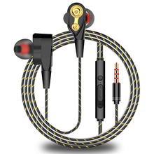 Wired אוזניות מקצועי מתכת 3.5mm אוזניות כבד בס Hifi סטריאו מוסיקה אוזניות ספורט אוזניות עבור iPhone Huawei סמסונג