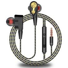 Écouteur filaire professionnel en métal 3.5mm écouteurs basse lourde Hifi stéréo musique écouteurs Sport casque pour iPhone Huawei Samsung