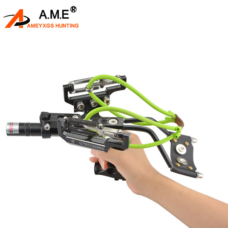 1PC tir à l'arc catapulte bowpeche fronde pêche chasse fronde catapulte Kit laser avec flèches reste accessoires de tir