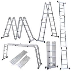 FR 4x4 plataforma de paso de pies multiusos de aleación de aluminio a prueba de óxido escalera de andamio plegable para uso comercial y bricolaje