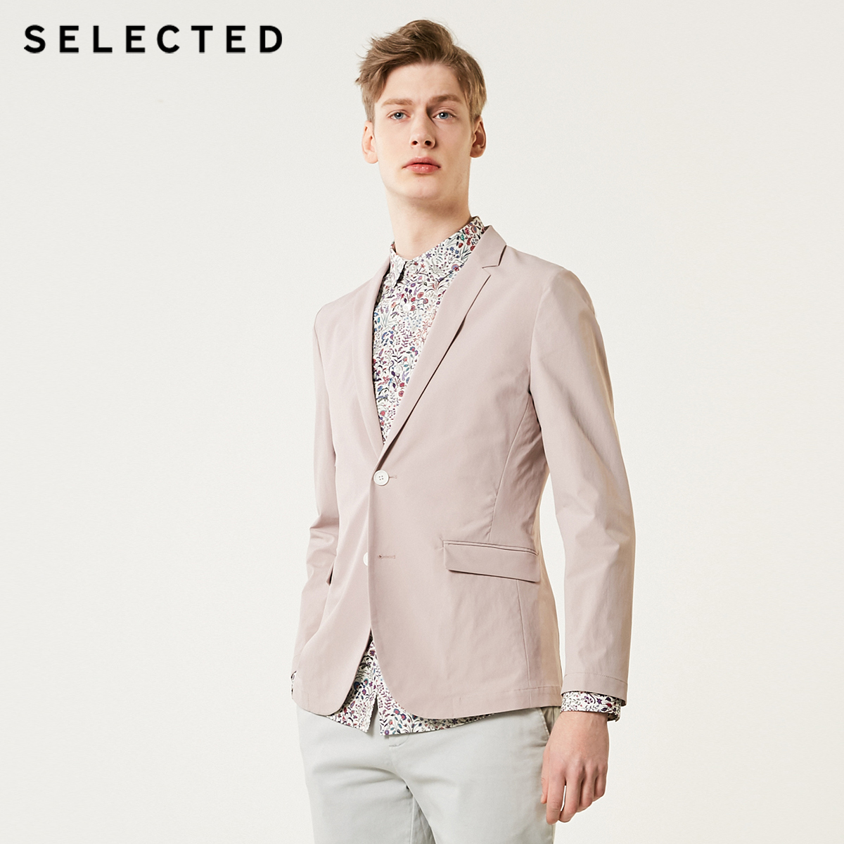 SELECTED Men's Slightly Stretch Notched Collar Skinny Business Casual Blazer Jacket S|419208511