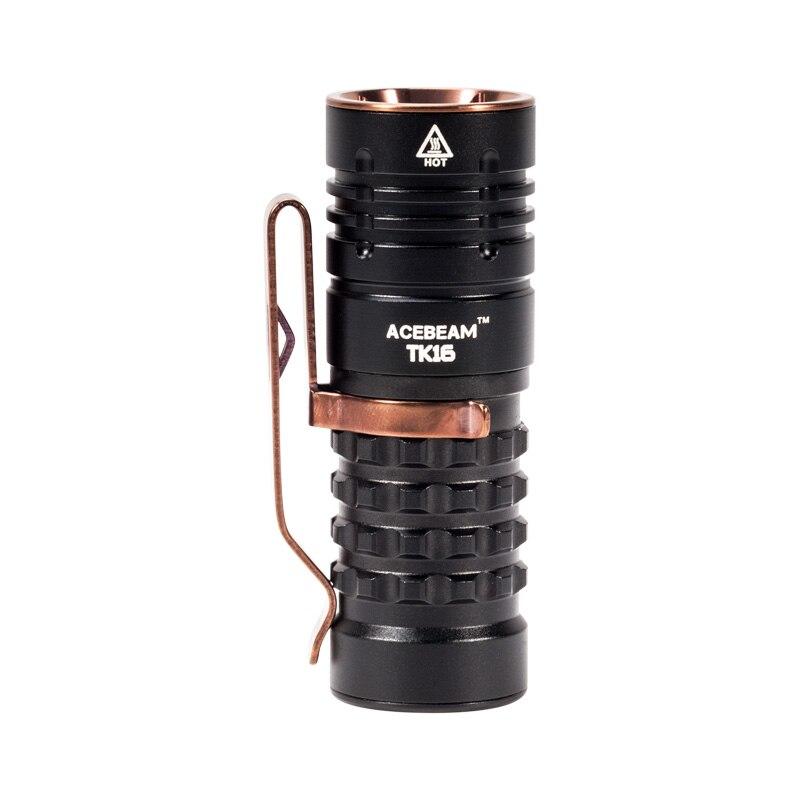 Acebeam TK16-AL lampe de poche LED, petite torche EDC légère, comprend 1x16340 lampe de poche