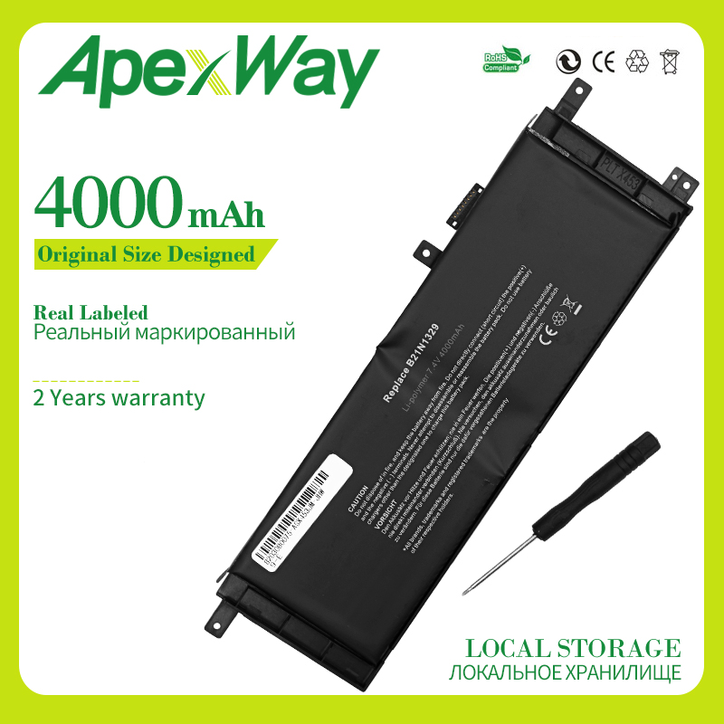 Apexway B21N1329 Laptop Battery For ASUS D553M F453 F453MA F553M P553 P553MA X453 X453MA X553 X553M X553B X553MA X403M X503M