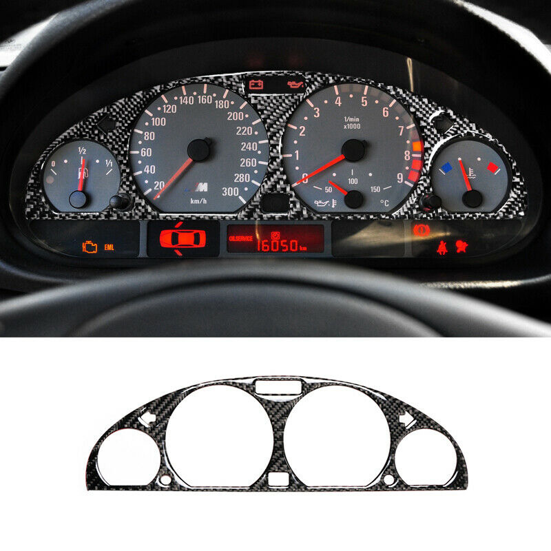 Waterproof Car Instrument Panel Trim Sticker For BMW E46 M3 1998-2005 Carbon Fiber Car Decoration Accessories Car Stickers