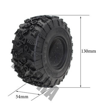 INJORA 4Pcs 2.2 Inch Rubber Tyres Wheel Tires for 1/10 RC Rock Crawler SCX10 RR10 Wraith YETI 90026 90020 90031 90045 90056 2