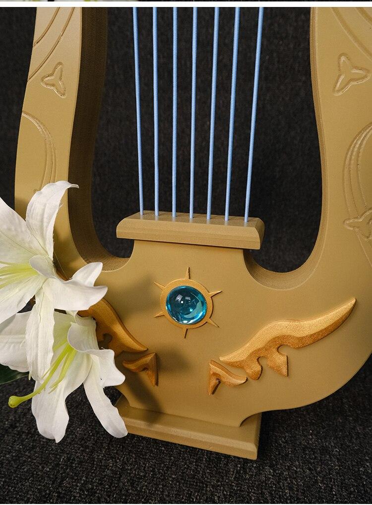 harpa cosplay adereços réplica arma halloween carnaval feitos à mão adereços