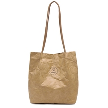 ABZC-New Retro Tote Made Old Folded Shoulder Bag Casual Lightweight Bag