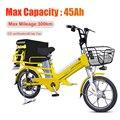janobike 45Ah Portable battery electric bicycle 48V 350W Brushless Motor electric bike Max. mileage 300km e-bike