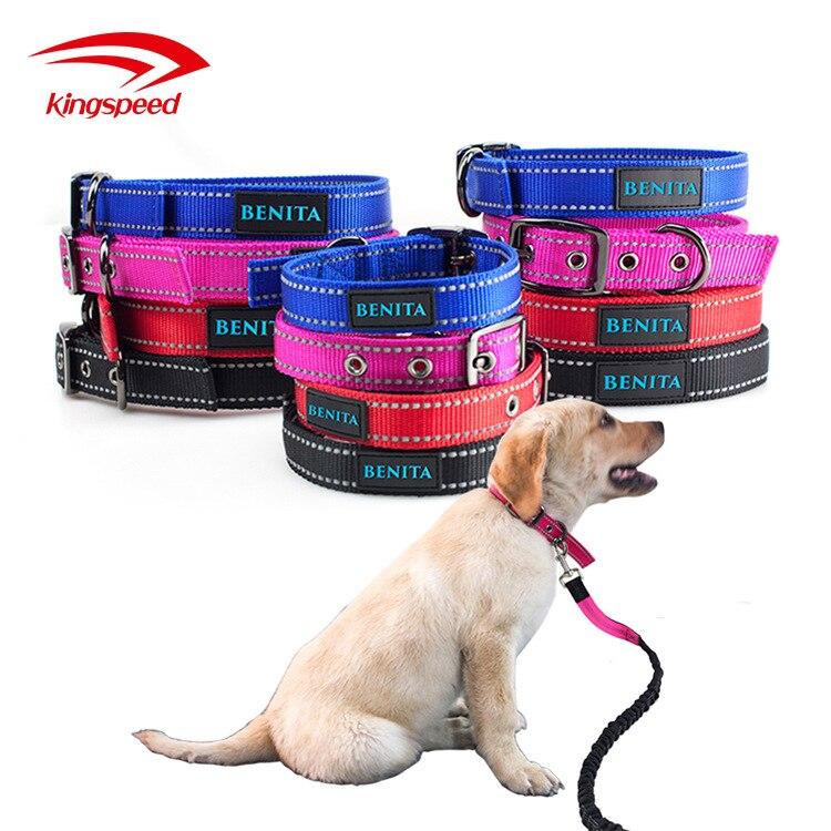 Hot Sales Pet Collar Reflective Nylon Dog Neck Ring Pet Rivet Neck Ring Pet Supplies