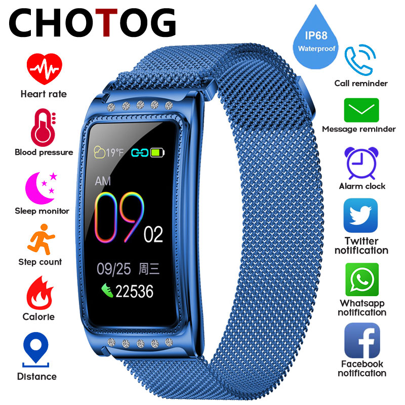 Smart Watch Women Physiological Cycle Remind Ip68 Waterproof Fitness Tracker Blood Pressure Heart Rate Monitor Watch Smartwatch|Smart Watches| |  - title=