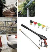 Pressure Water Gun+Spray Engineering Plastics Aging Resistance Nozzles+Hose Wand for Car Washing Garden Irrigation
