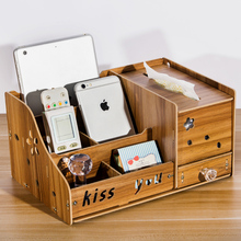5 Compartments Sundries Organizer Wood Tissue Box Makeup Storage Drawer Organizer Jewelry Skincare Organizer Cosmetic Box Drawer