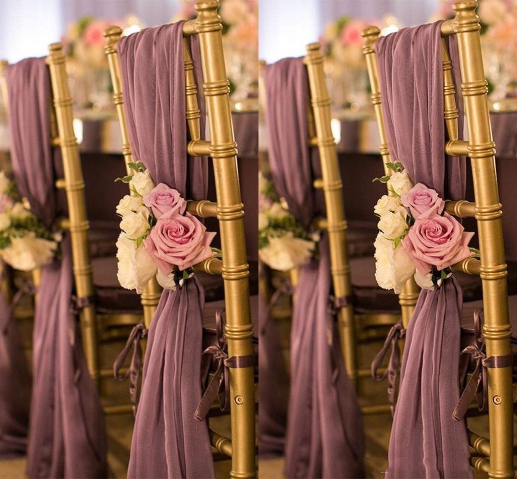Romantic Oceanfront Garden Wedding Chair Cover Back Sashes Flower Banquet Decor Bow Christmas Birthday Formal Wedding Chair Sash