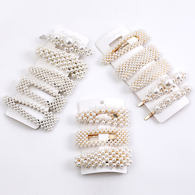 5pcs / Set Pearl Hair Clips Fashion Soft Pearl Hair Clip Hair Stick Suitable For Female Hair Clip Girls Hair Accessories Jewelry
